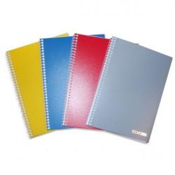 Блокнот Eсonomix А5 боковая спираль 80 листов обложка пластик Арт. E20220-02