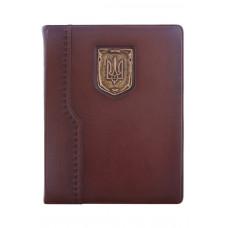 Еженедельник кожаный Privilege Герб Украины А4 сменный блок золоченый срез страниц
