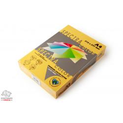 Бумага цветная офисная Spectra Color Gold 200 А4 80 г/м2 500 листов интенсивный золотой Арт. 164410