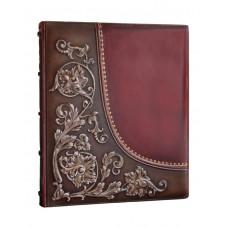 Фотоальбом Privilege Лилия кожаный размер 29,5 х 34 см 50 листов