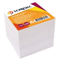 Блок бумаги для заметок непроклеенный KROK 9х9 см 1000 листов белый Арт. KR-1311