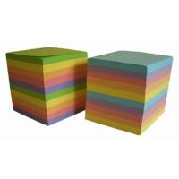 Блок бумаги для заметок не проклеенный Fresh Up Классика 9х9 см 900 листов цветной Арт. FR-3611