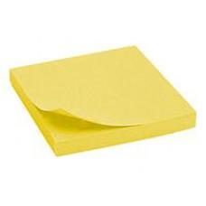 Бумага для заметок с клейким слоем Axent 75х75 мм 80 листов неоновый желтый Арт. 2414-11-A