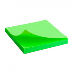 Бумага для заметок с клейким слоем Axent 75х75 мм 80 листов неоновый зеленый Арт. 2414-12-A
