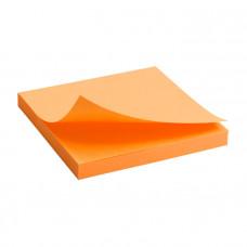 Бумага для заметок с клейким слоем Axent 75х75 мм 80 листов неоновый оранжевый Арт. 2414-15-A