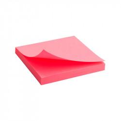 Бумага для заметок с клейким слоем Axent 75х75 мм 80 листов неоновый розовый Арт. 2414-13-A