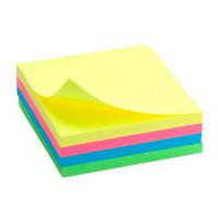 Блок бумаги с липким слоем Delta by Axent 75х75 мм 250 листов неоновое ассорти Арт. D3351