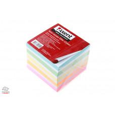 Блок бумаги для заметок непроклеенный Axent Elite Color 9х9х7 см цветная (8028-A)