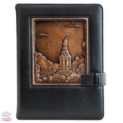Ежедневник кожаный Privilege Владимирская Горка А5 с клапаном сменный блок золоченый срез страниц