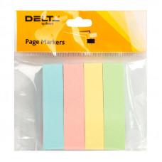 Закладки самоклеящиеся Delta by Axent бумажные 51х12 мм 4 цвета по 100 листов пастель Арт. D3445-01