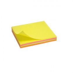 Бумага для заметок с липким слоем Axent 75x75 мм 100 листов неоновый микс Арт. 2325-02-A