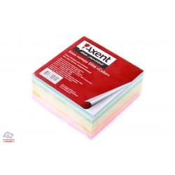 """Блок бумаги для заметок непроклеенный Axent Elite """"Color"""" 9х9х4 см цветной Арт. 8026-A"""