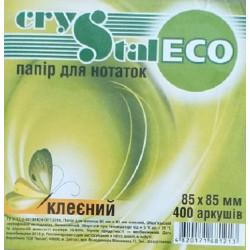 Блок бумаги для заметок проклеенный CRYSTAL ECO 8, 5х8, 5 см 400 листов белый