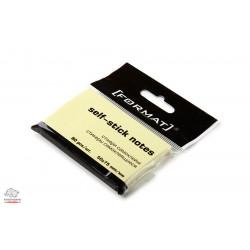 Бумага для заметок с клейким слоем Format 75х50 мм 80 листов желтый Арт. F27931