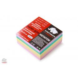 Блок бумаги для заметок проклеенный Культтовары Украина Классика 8, 5х8, 5 см 400 листов цветной Арт. КТ-4312
