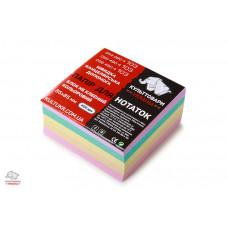 Блок бумаги для заметок непроклееный Культтовары Украина Классика 8,5х8,5 см 400 листов цветной Арт. КТ-4311