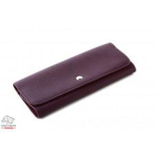 Визитница кожаная VIF Vintage 40 визиток  фиолетовая Арт. 130971-4143
