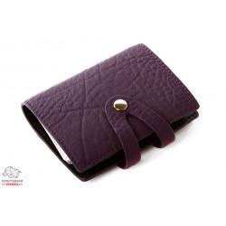 Визитница кожанная VIF Аруба 40 визиток фиолетовая Арт.130821-4143
