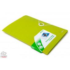 Папка на резинках Leitz WoW А4 ламинированный картон зеленый металлик Арт. 39820064