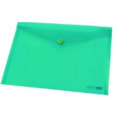 Папка-конверт на кнопке Economix А3 пластиковый цветной прозрачный Арт. Е31317