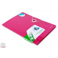 Папка на резинках Leitz WoW А4 ламинированный картон розовый металлик Арт. 39820023