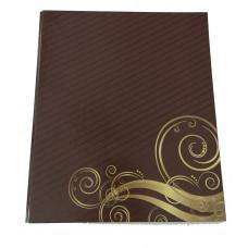 Папка Clipboard ITEM ширина 20 мм А4 картон ламинированный шоколадная Арт. 324/SH
