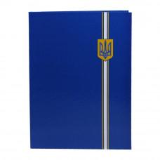 Папка адресная Economix Символика Украины А4 бумвинил синий Арт. Е30901-02