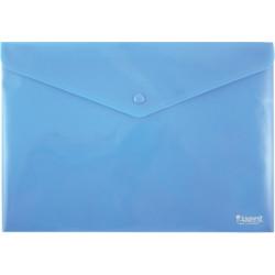 Конверт на кнопке А4 Axent пластиковый непрозрачный синий Арт. 1412-22-A