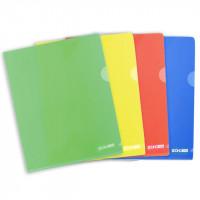 Папка-уголок Economix А5 пластиковый цвет ассорти Арт. E31156