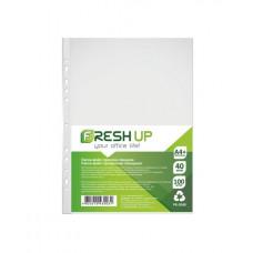 Файл Fresh Up А4+ прозрачный 40 мкм /в упак. 100 штук/ Арт. FR-2035