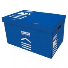 Короб для архивных боксов BuroMax размер 56х38х26,5 см гофрокартон синий Арт. ВМ.3270-02