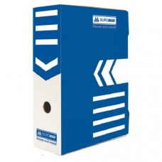Папка-бокс для архивации BuroMax А4 ширина 8 см гофрокартон синий Арт. ВМ.3260-02