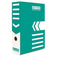 Папка-бокс для архивации BuroMax ширина 8 см гофрокартон бирюза Арт. ВМ.3260-06