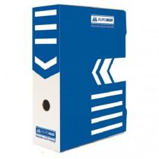 Папка-бокс для архивации BuroMax ширина 10 см гофрокартон синий Арт.ВМ.3261-02