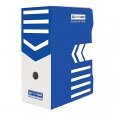 Бокс для архивации BuroMax ширина 15 см гофрокартон синий Арт. ВМ.3262-02