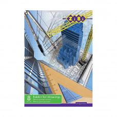 Папка для черчения А3 ZIBI 8 листов плотность 160 г/м2 Арт. ZB.1410