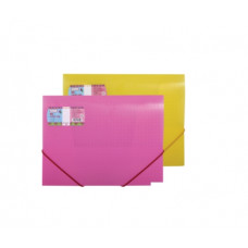 Папка на резинке Optima фактура Вышиванка А4 пластик цвет ассорти Арт. O30691