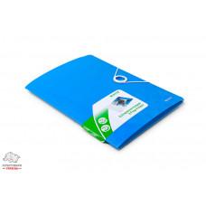 Папка на резинках Leitz WoW А4 ламинированный картон голубой металлик Арт. 39820036
