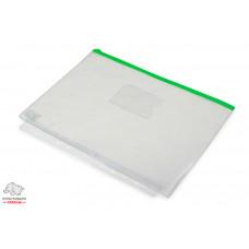 Папка-конверт BuroMax А4 застежка zip-lock пластик зеленый Арт. BM.3946-04