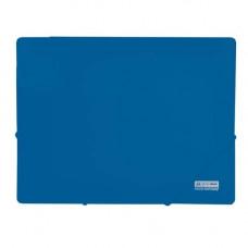 Папка на резинке BuroMax JOBMAX А4 пластик цвет синий Арт. BM.3911-02