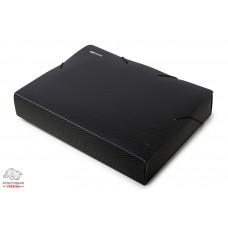 Папка-бокс на резинке Economix А4 ширина 6,0 см пластик цвет черный Арт. Е31405-01