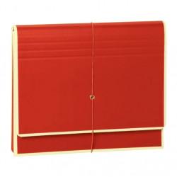 Папка-гармошка Semikolon А4 12 отделений на резинке цвет красный Арт. 267-04