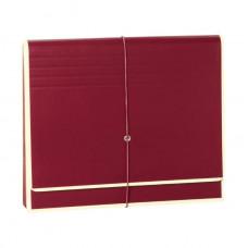 Папка-гармошка Semikolon А4 12 отделений на резинке цвет бордовый Арт. 267-05