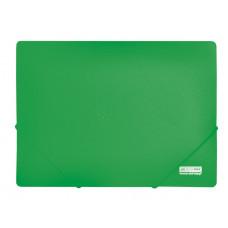 Папка на резинке BuroMax JOBMAX А4 пластик цвет зеленый Арт. BM.3911-04
