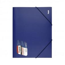 Папка на резинке Axent А4 пластик синяя 36042 1508-02-А