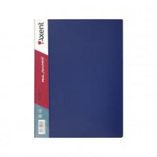 Дисплей-книга 40 файлов Axent А4 пластиковая цвет синий Арт. 1040-02-A