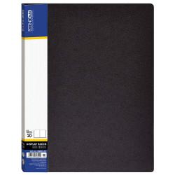 Дисплей-книга Economix А4 20 файлов пластиковая черная Арт. E30602-01