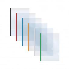 Папка с прижимной планкой Economix 2-65 листов А5 пластиковая ассорти  Арт. E31204-04
