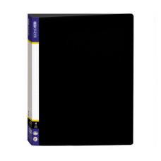 Папка 4 кольца Economix А4 ширина 4,0 см пластик цвет черный Арт. E30702-01