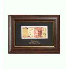 Панно Банкнота 500 EUR в деревянной рамке Арт. HB-045